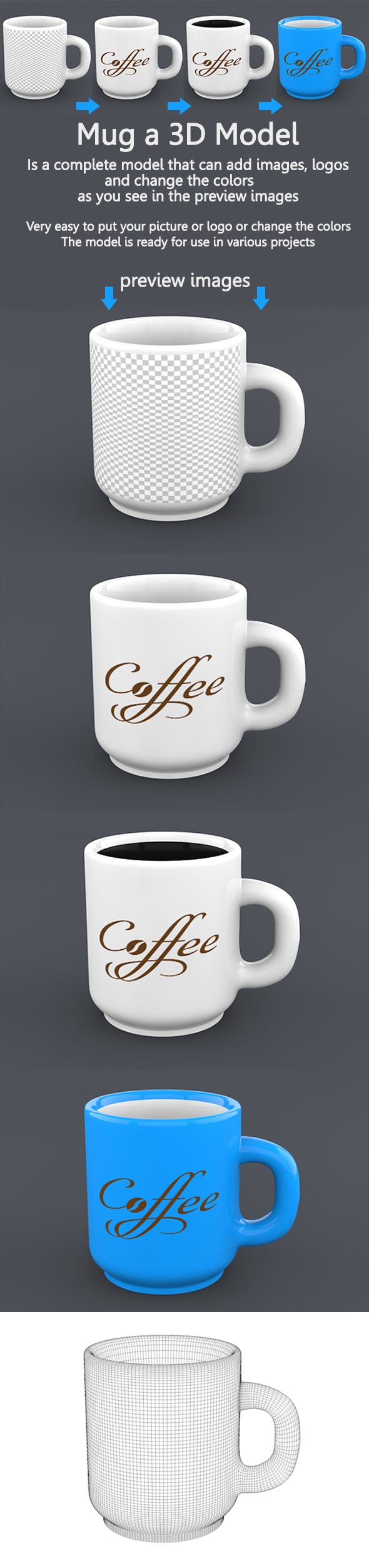 Mug - 3DOcean Item for Sale
