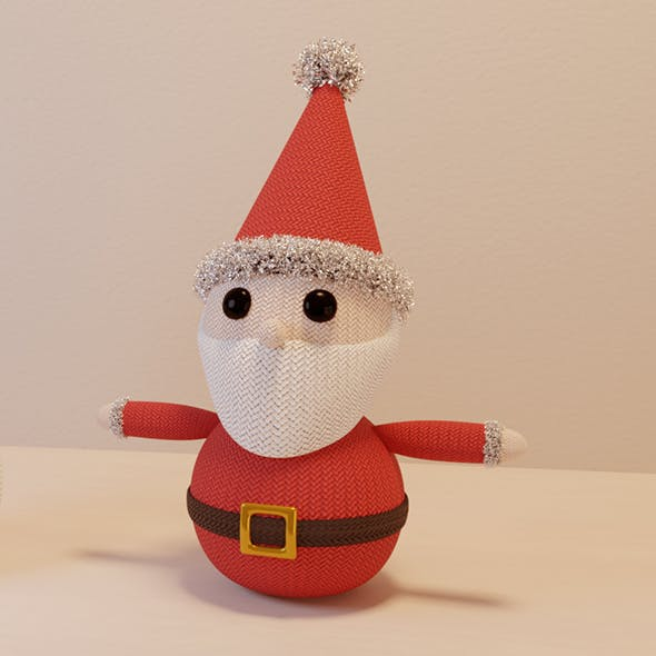 Knitted Santa Christmas Decoration - 3DOcean Item for Sale