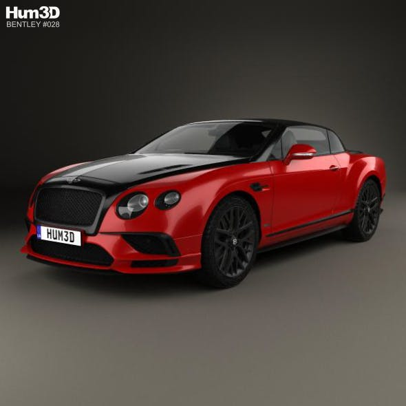 Bentley Continental GT Supersports Convertible 2017 - 3DOcean Item for Sale