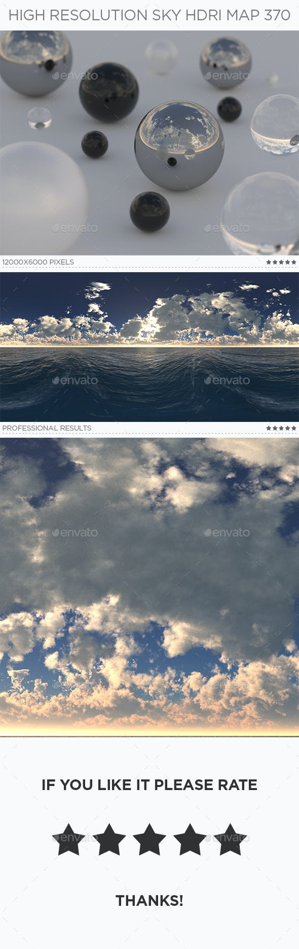High Resolution Sky HDRi Map 370 - 3DOcean Item for Sale