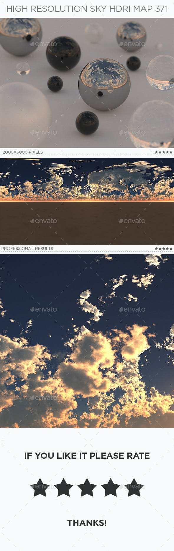 High Resolution Sky HDRi Map 371 - 3DOcean Item for Sale