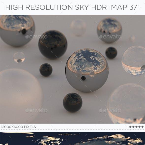 High Resolution Sky HDRi Map 371