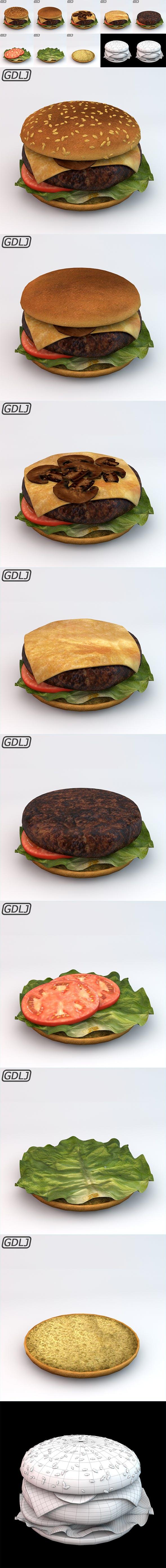 Hamburger - 3DOcean Item for Sale