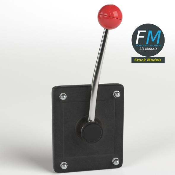 Wall mounted lever - 3DOcean Item for Sale