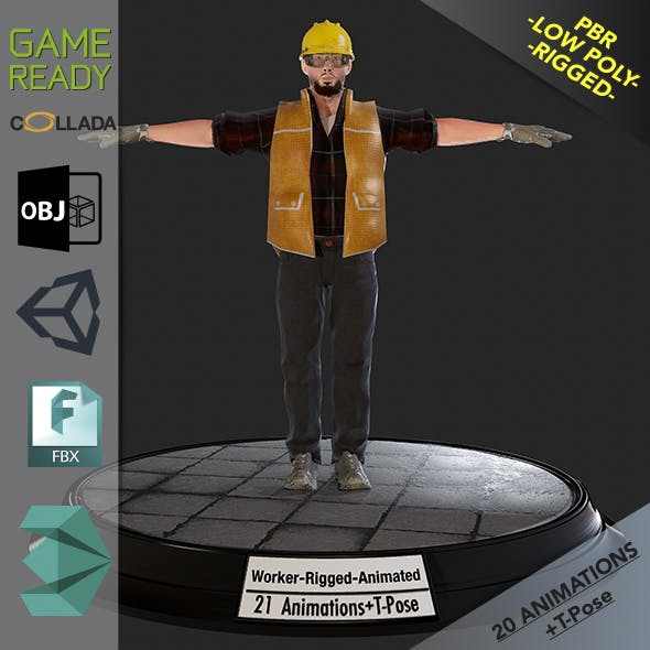 Worker1 Animations Pack - 3DOcean Item for Sale
