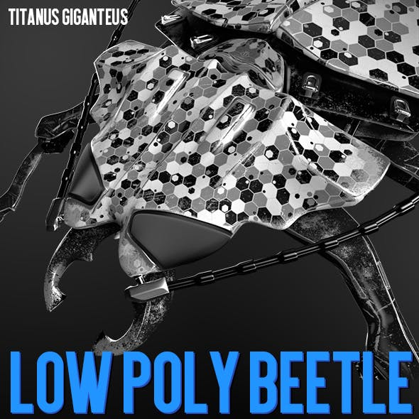 Beetle Low poly Titanus_giganteus