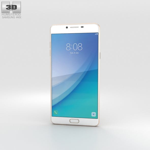 Samsung Galaxy C7 Pro Gold - 3DOcean Item for Sale