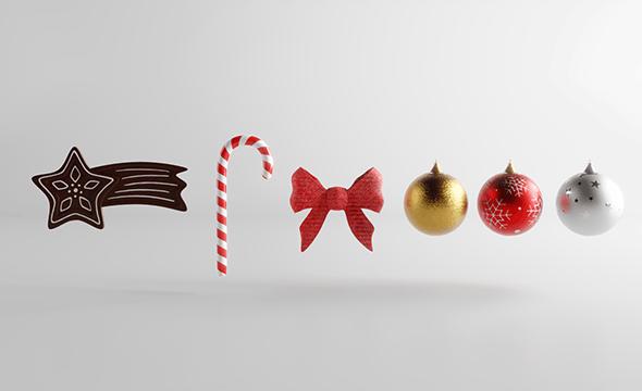 Christmas Decoration Assets - 3DOcean Item for Sale