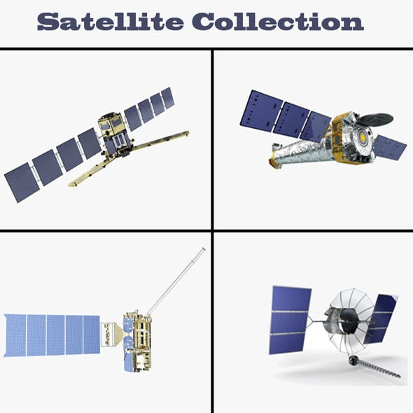 Satellites Collection - 3DOcean Item for Sale