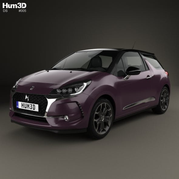 DS3 Prestige hatchback 2016 - 3DOcean Item for Sale