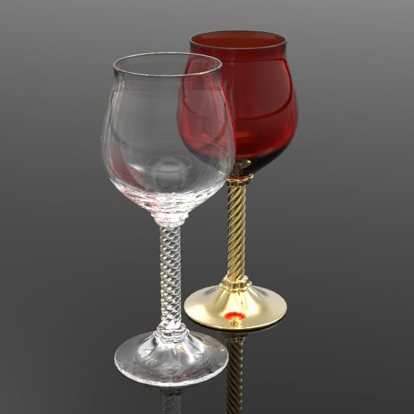 Spiral Stem Sherry Glass