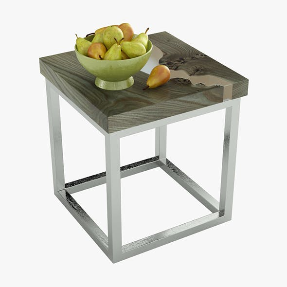 Coffee table with pears