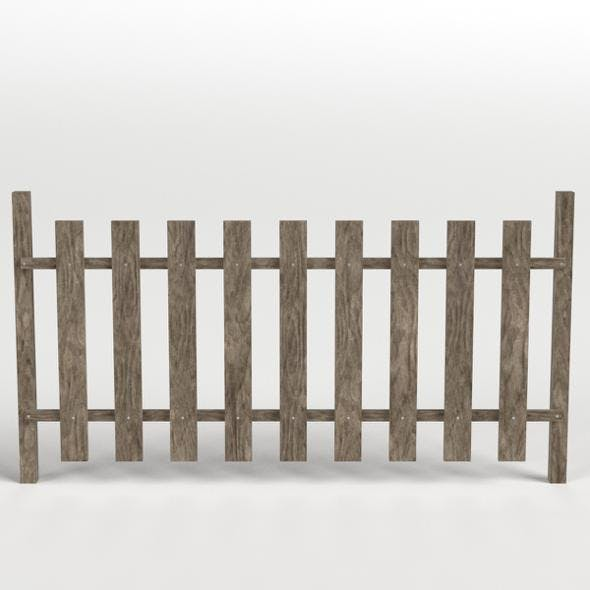 Wooden Fence - 3DOcean Item for Sale