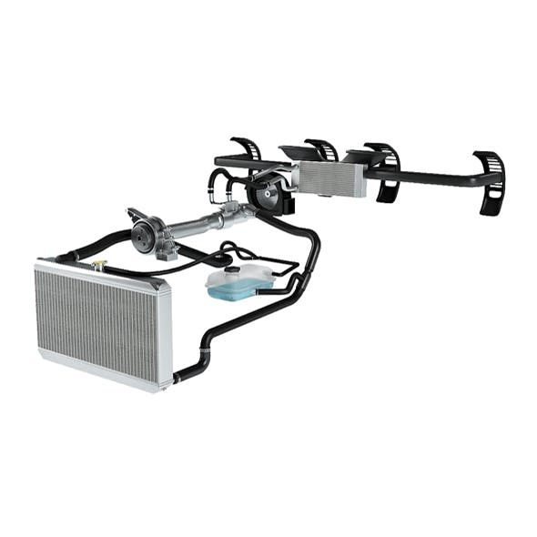 Car Cooling System 3D - 3DOcean Item for Sale