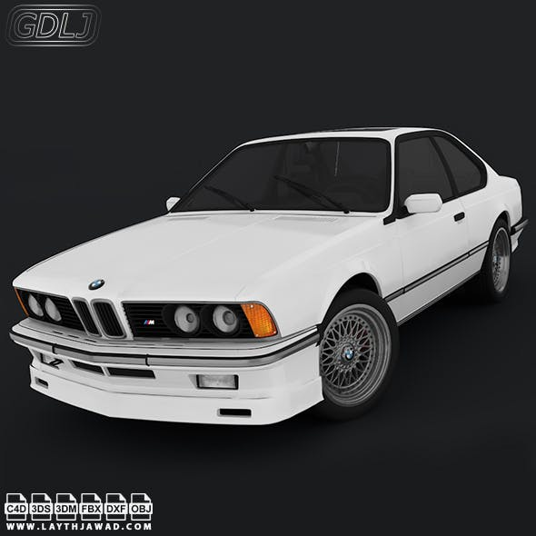 BMW E24 M6 - 3DOcean Item for Sale