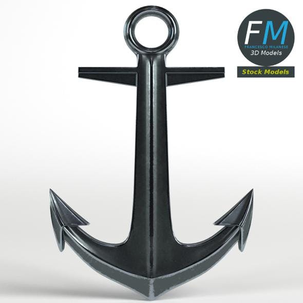 Decorative Anchor - 3DOcean Item for Sale