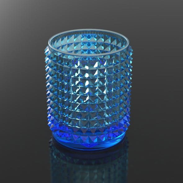 Crystal Cut Cylindrical Glass