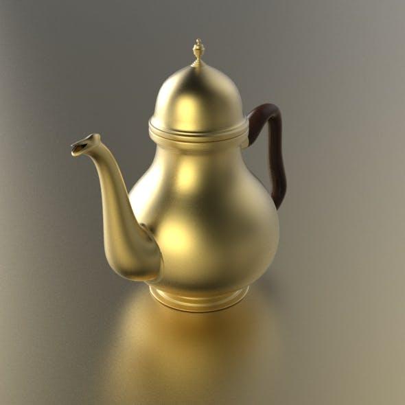 Art Deco Teapot - 3DOcean Item for Sale