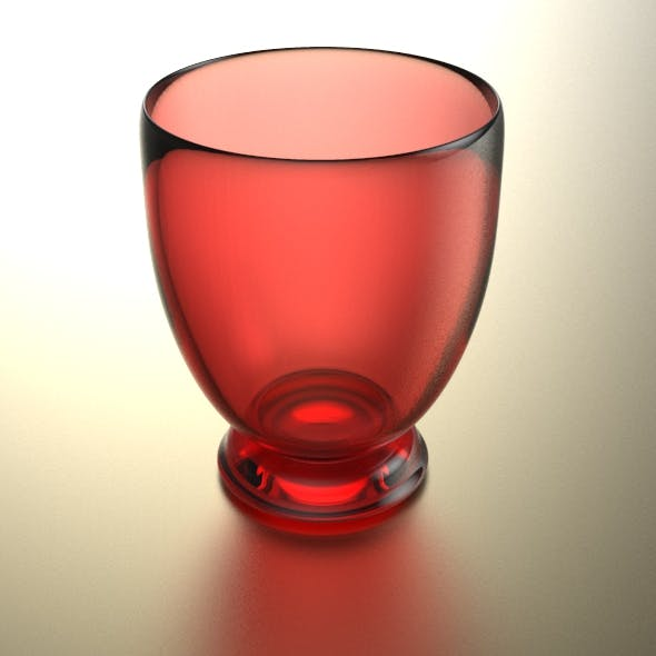 Stemless Wine Glass - 3DOcean Item for Sale