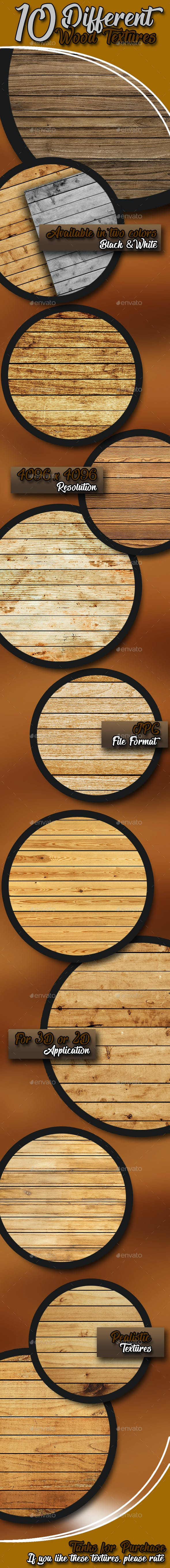 10 Wood Textures - 3DOcean Item for Sale