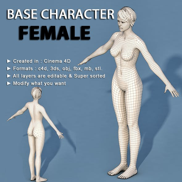 Low Poly Base Character Female