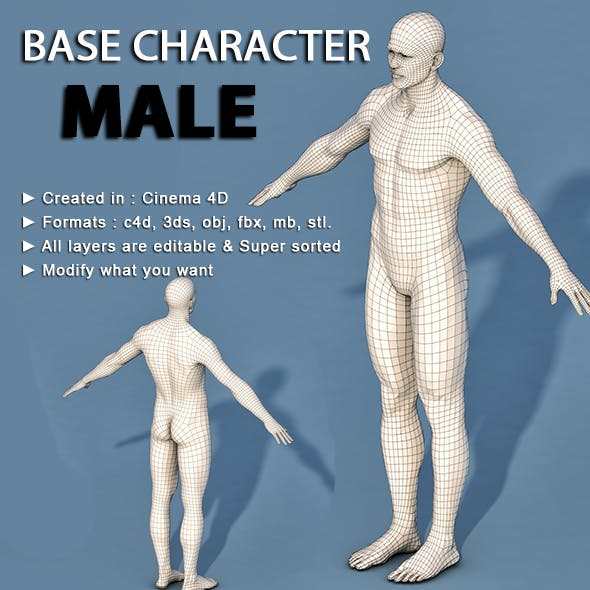 Low Poly Base Character Male