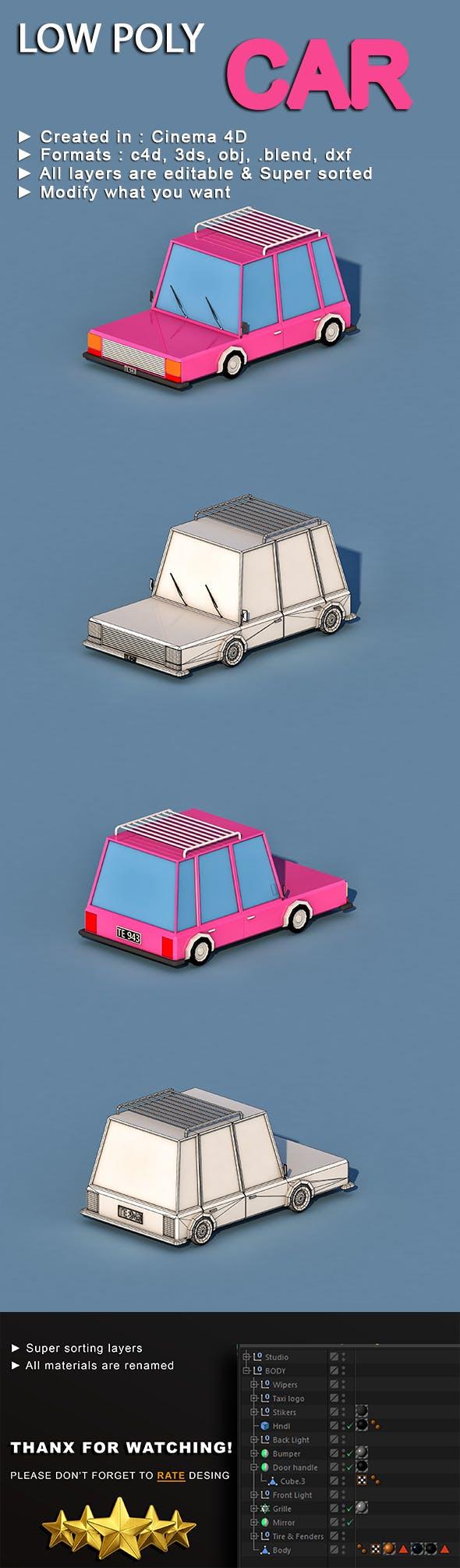 Cartoon Car - 3DOcean Item for Sale