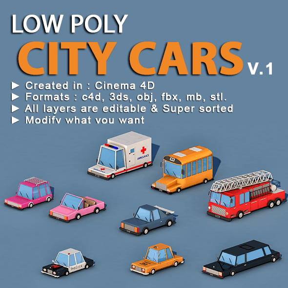 Cartoon City Cars v1