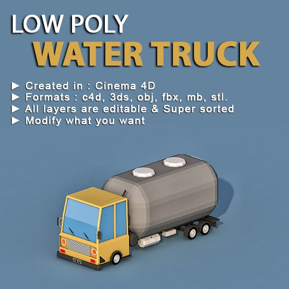 Cartoon Water Truck