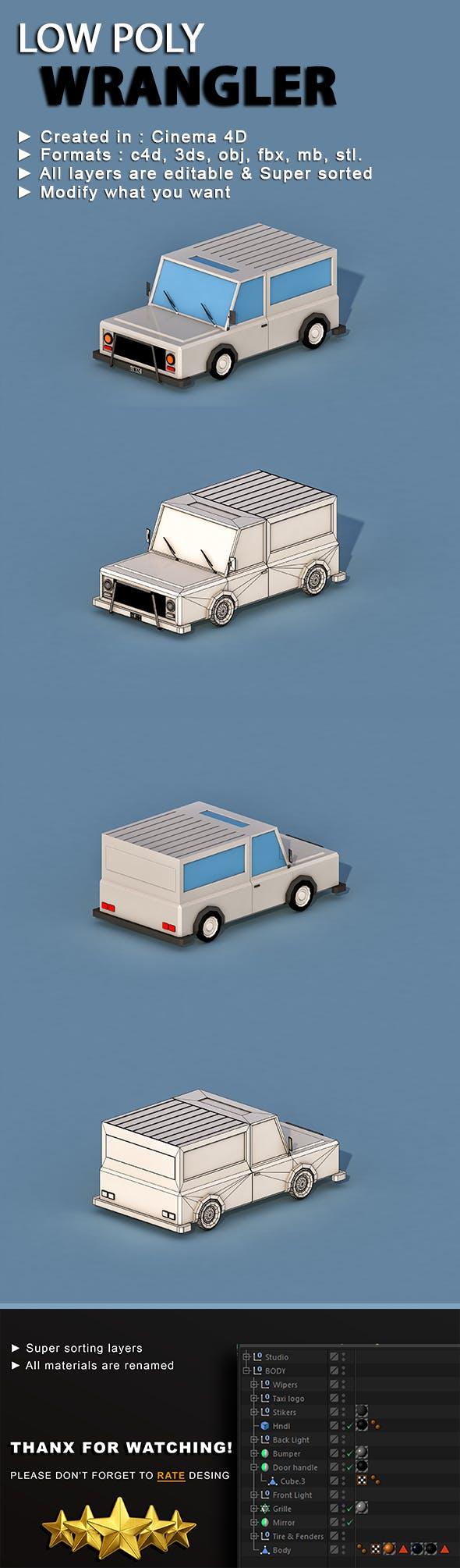 Cartoon Wrangler - 3DOcean Item for Sale