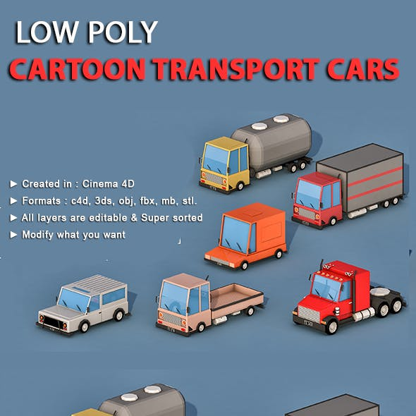 Cartoon Transport Cars v1