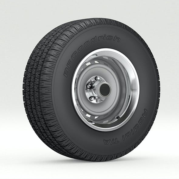 VINTAGE WHEEL AND TIRE 8