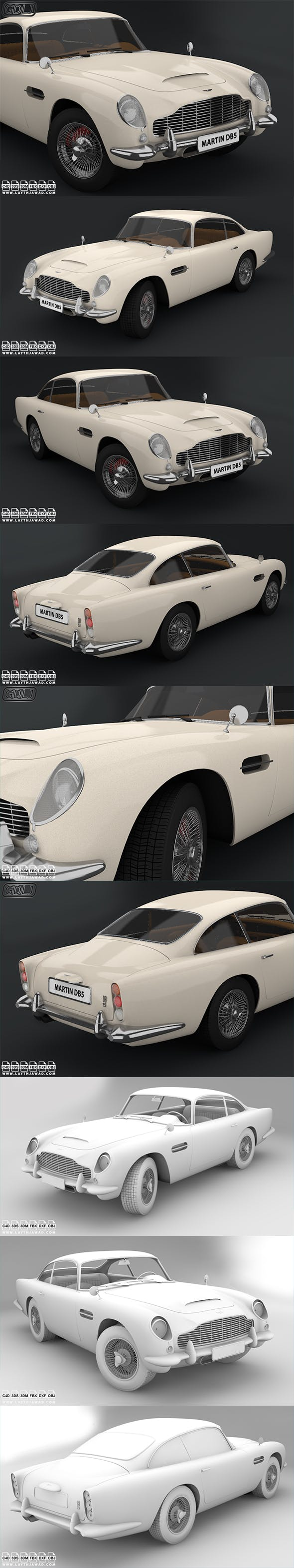 Aston Martin DB5 1964 - 3DOcean Item for Sale