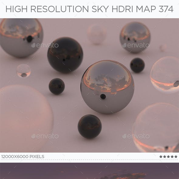 High Resolution Sky HDRi Map 374