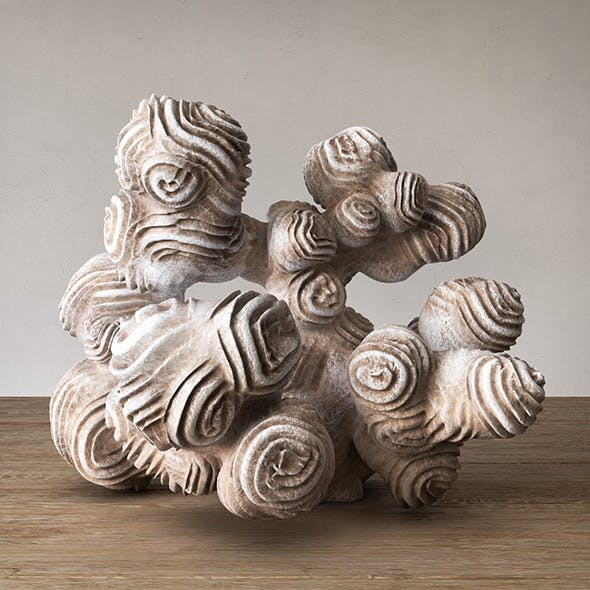 Author sculpture coral