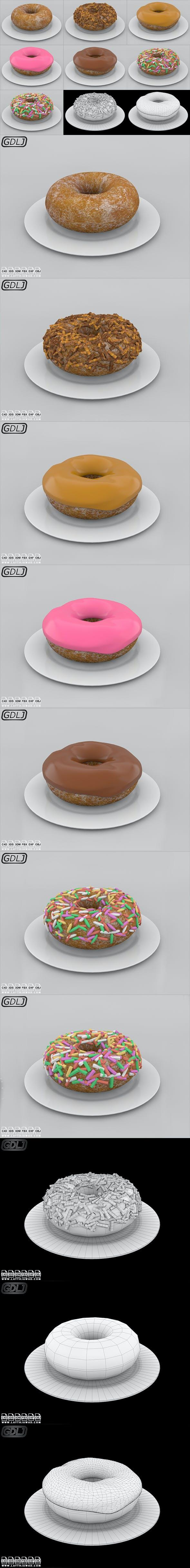 Doughnuts - 3DOcean Item for Sale