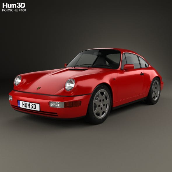 Porsche 911 Carrera 4 Coupe (964) 1989 - 3DOcean Item for Sale