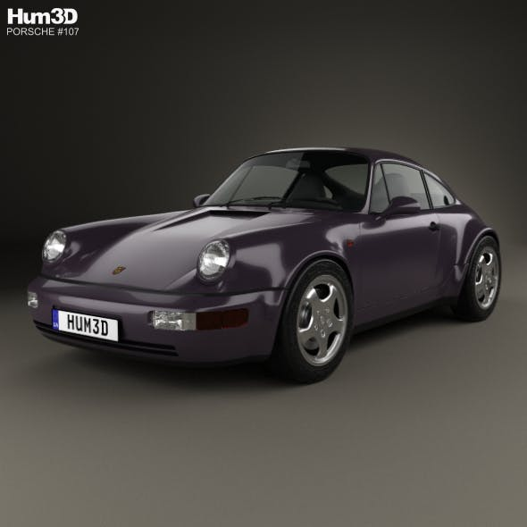 Porsche 911 Carrera 4 Coupe (964) Turbolook 30th anniversary 1993 - 3DOcean Item for Sale