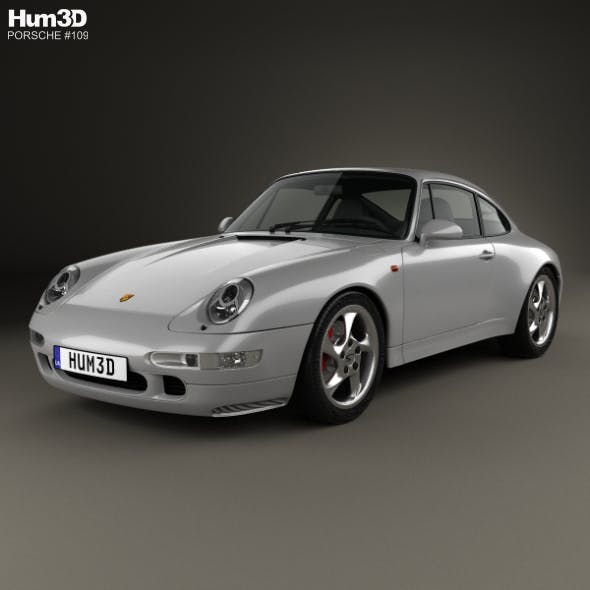 Porsche 911 Carrera 4S Coupe (993) 1997 - 3DOcean Item for Sale