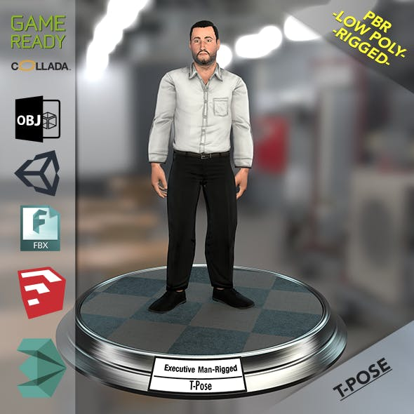 Executive Man - 3DOcean Item for Sale