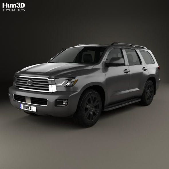 Toyota Sequoia TRD Sport 2018 - 3DOcean Item for Sale