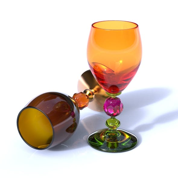 Crystal Wine Glass - 3DOcean Item for Sale