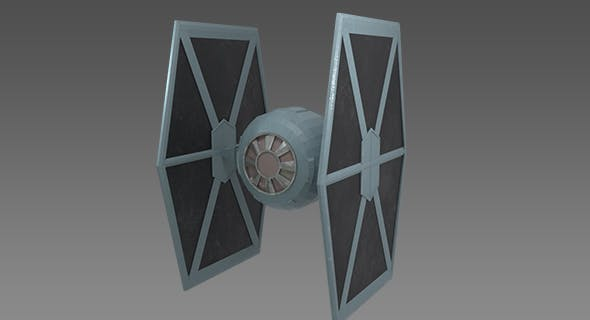Star Wars - Tie Fighter Low Poly - 3DOcean Item for Sale