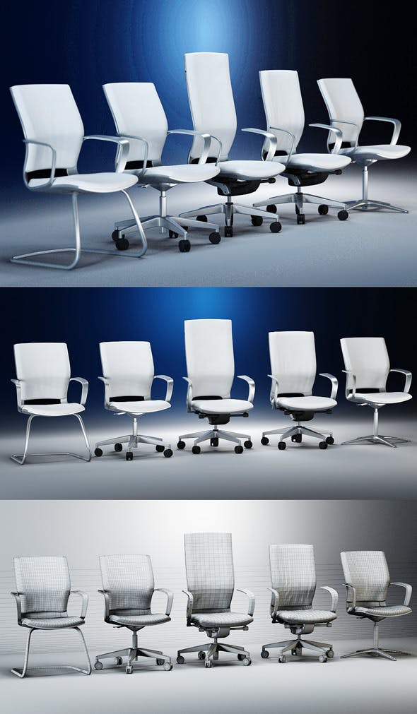 Quality 3dmodel of modern chairs Moteo. Kloeber - 3DOcean Item for Sale