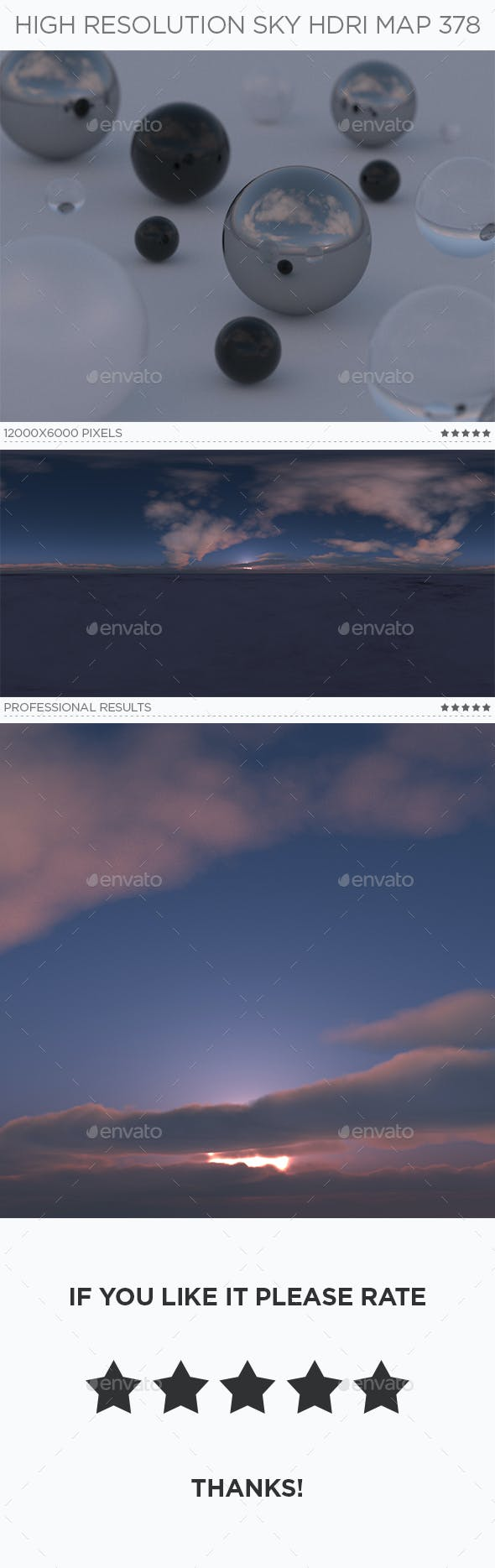 High Resolution Sky HDRi Map 378 - 3DOcean Item for Sale