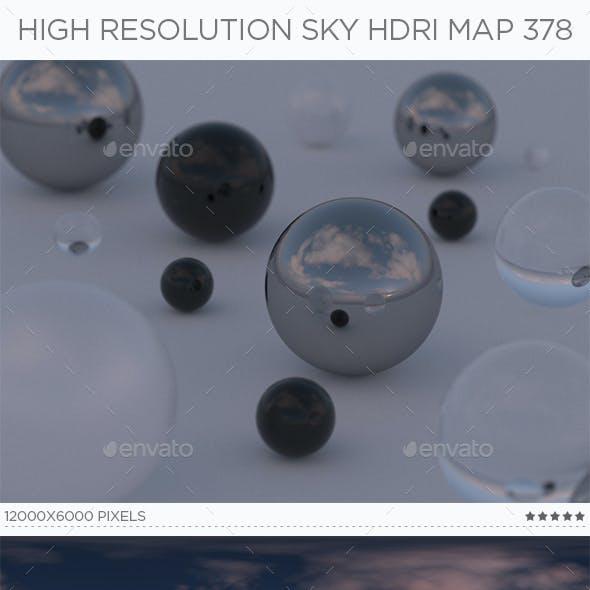 High Resolution Sky HDRi Map 378
