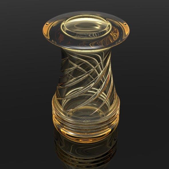 Swirly Cut Vase