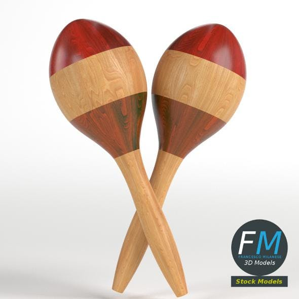 Maracas rumba shakers - 3DOcean Item for Sale