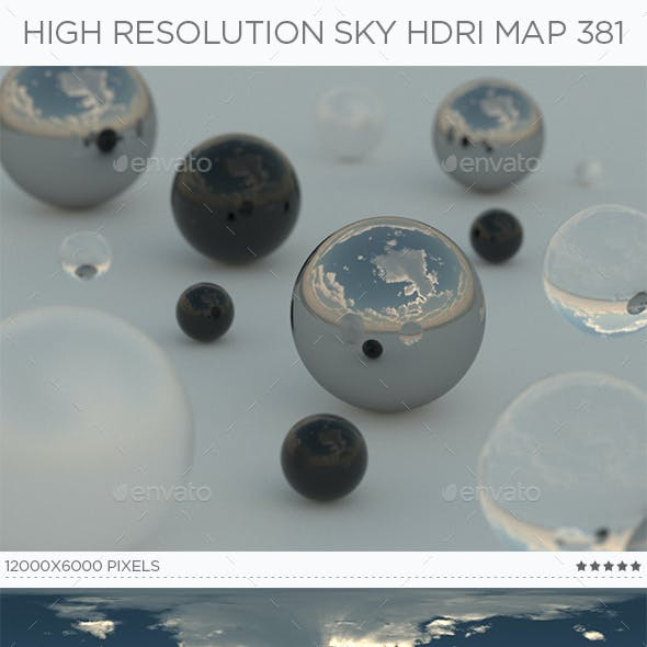 High Resolution Sky HDRi Map 381