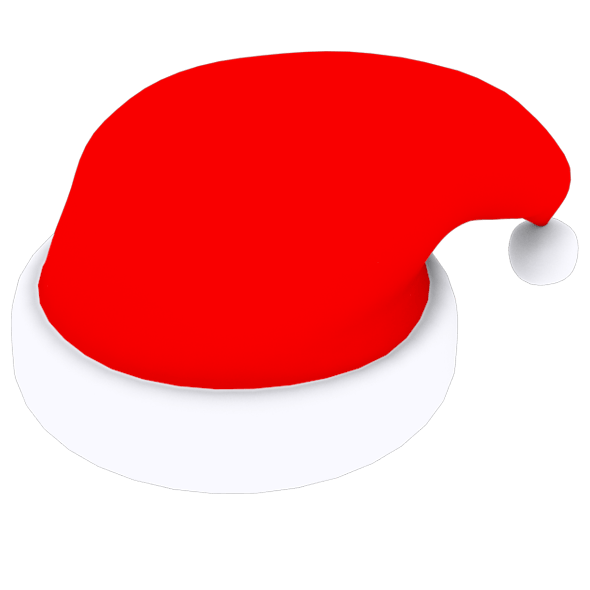 snowball cap, claus, winter, low poly